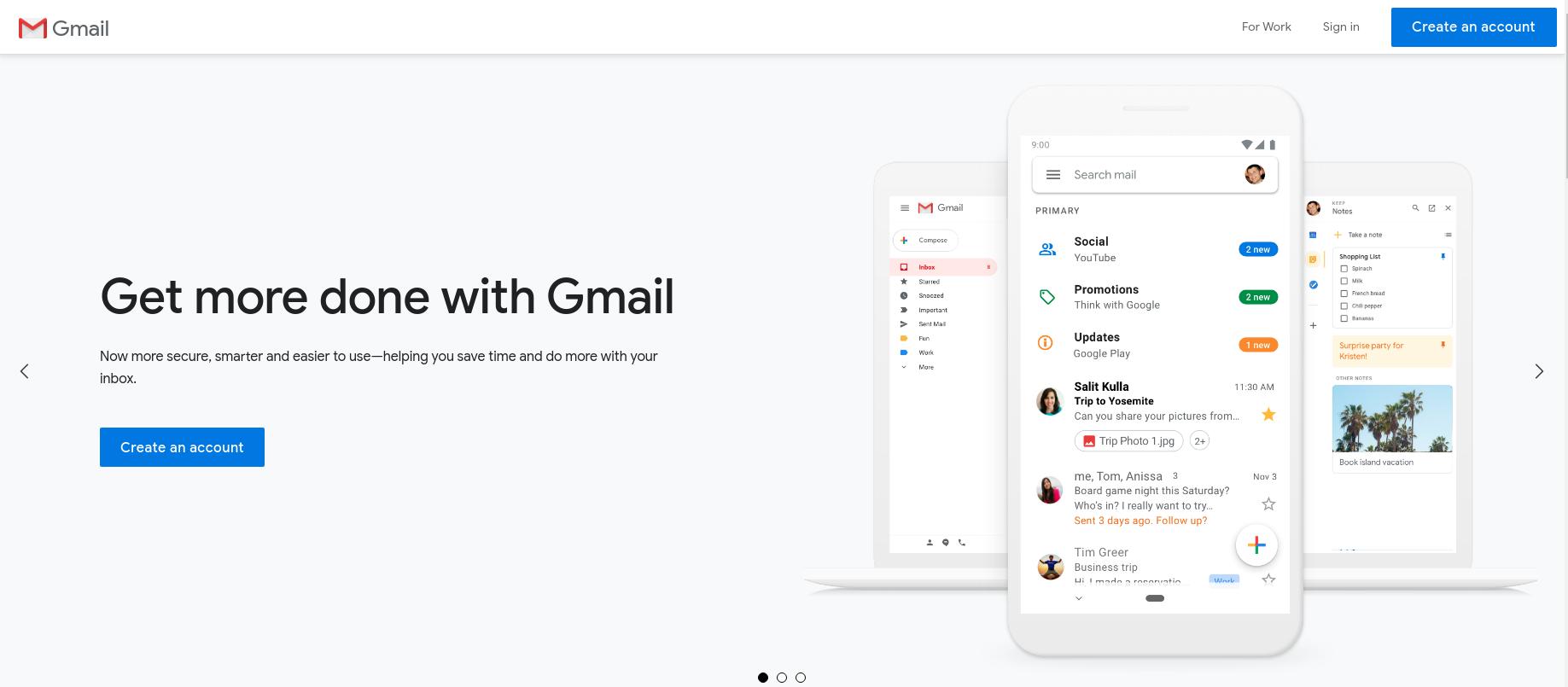 gmail login homepage
