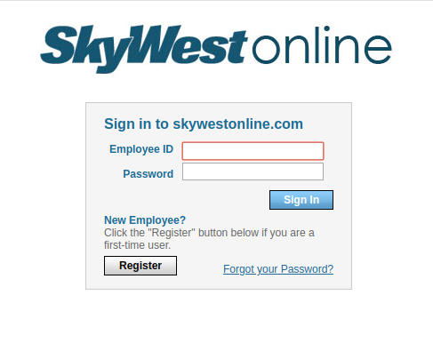 skywestonline registration