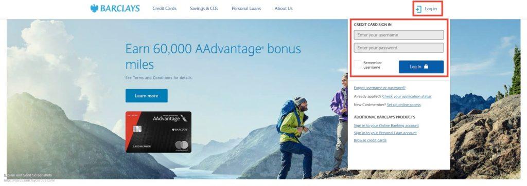 Barclays Credit Card Login US