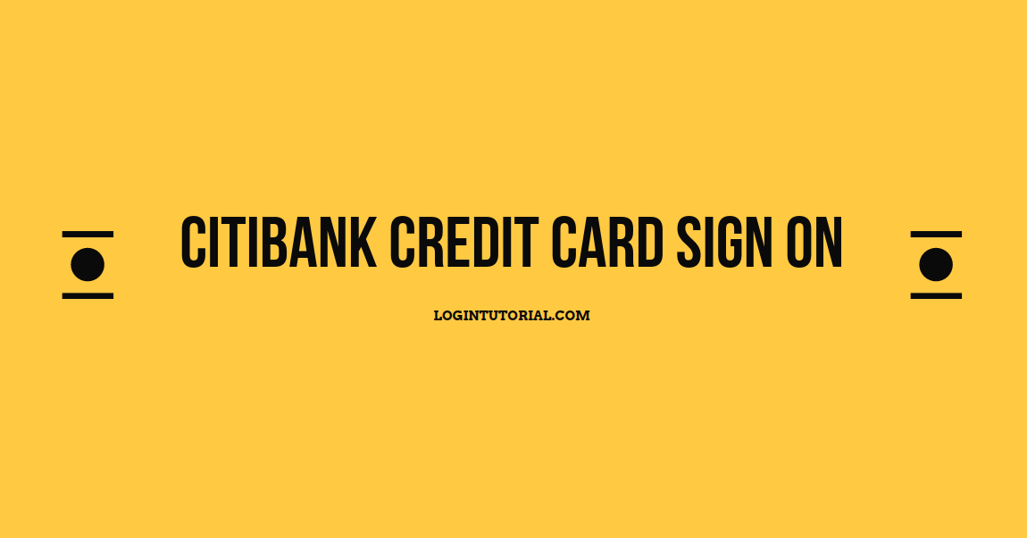 Citibank Credit Card Sign On