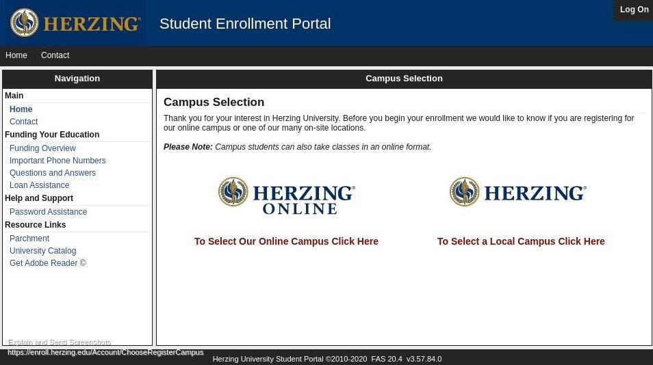 Herzing University Registration
