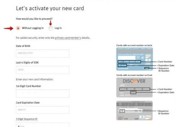 Activate Discover Card WithoutLogin