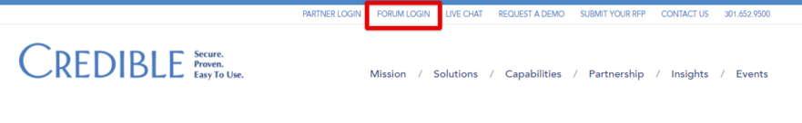 CredibleBH Forum Registration Process