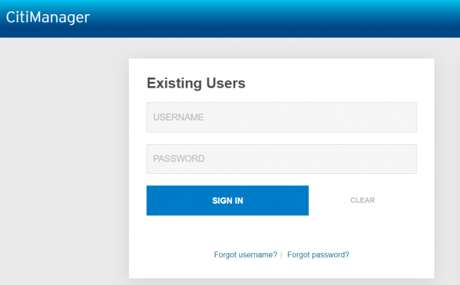 Citi Commercial Card Login Page
